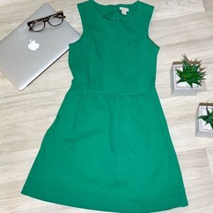 J crew dress. Kelly Green